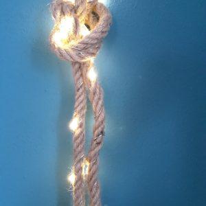 Lichtsnoer jute LED verlichting