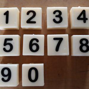 Letterkaarsjes - Cijfers