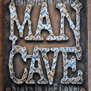 Metalen wandbord Man Cave