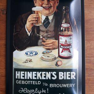 Metalen reclamebord Heineken Bier