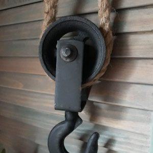 Katrol met touw – Gietijzer – Countryfield