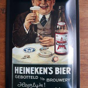 HEINEKEN BIER – Metalen reclamebord