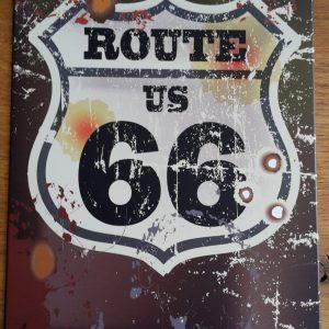 ROUTE US 66 – Metalen reclamebord