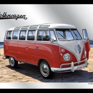 VW Bulli T1 Samba – Decoratieve spiegel
