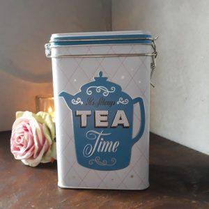 Voorraadblik thee – Clip Top Box tea