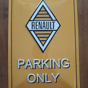 Metalen wandbord Renault Parking Only
