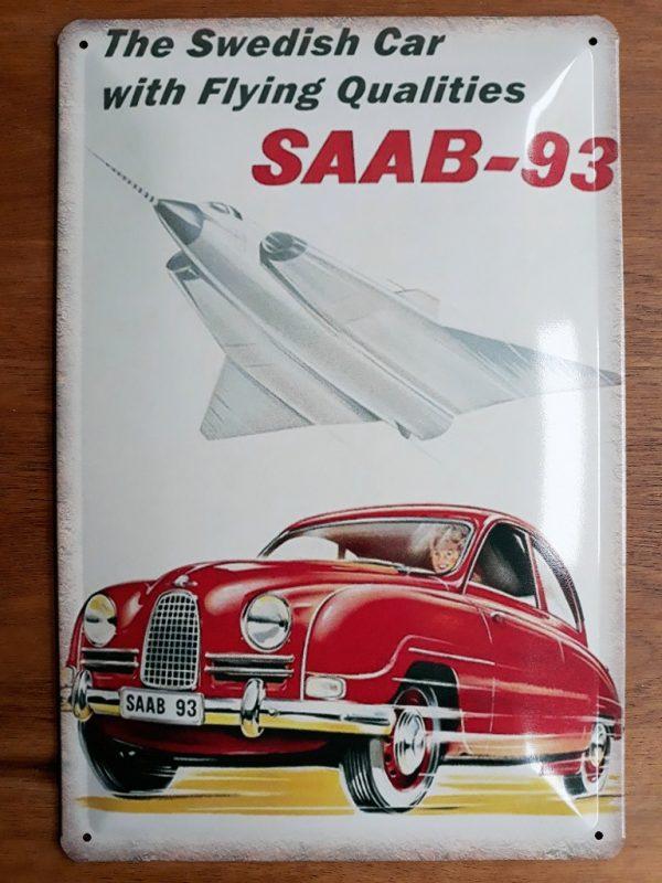 Metalen wandbord SAAB-93