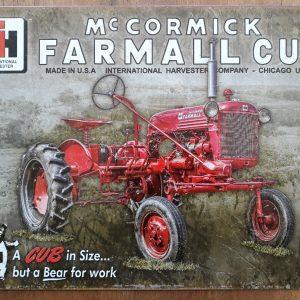 Metalen wandbord FARMALL MC Cormick