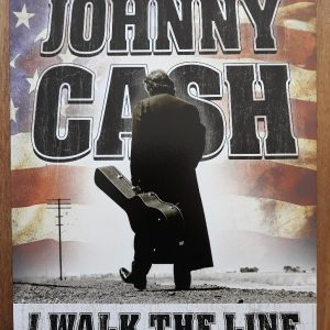 JOHNNY CASH – I Walk The Line – Metalen wandbord