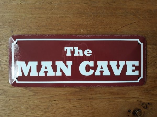 Metalen wandbord - THE MAN CAVE - 10x27cm