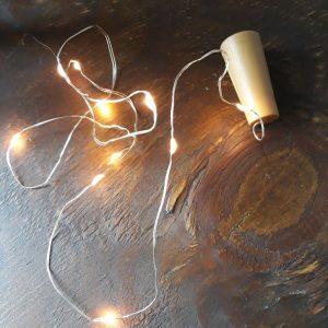 Bottle Light – Flesdop/Kurk met LED lichtsnoer – op batterijen