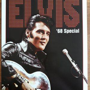 Metalen wandbord Elvis Presley '68 Special.