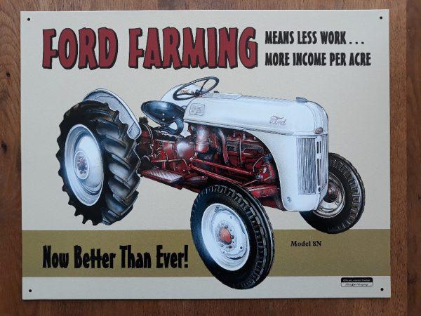 Metalen wandbord - FORD Model 8N Tractor