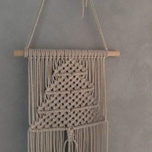 Macramé – Wanddecoratie – Kerstboom – Beige