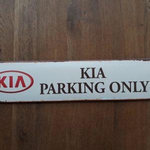 Kia Parking Only metalen wandbord