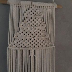 Macramé – Wanddecoratie – Kerstboom – Naturel