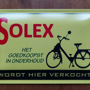 SOLEX – Het goedkoopst in onderhoud – Metalen wandbord