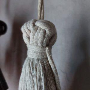 Macramé – Kwast L – Beige – Handgemaakt