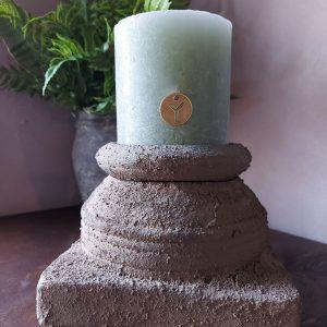 Rustieke kaars – 10 cm – Groen – Brynxz