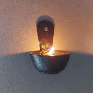 Waxinelichthouder van gietijzer S – Muur kandelaar – Brynxz