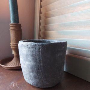 Bloempot aardewerk betonlook – Marvin 12 cm – Countryfield