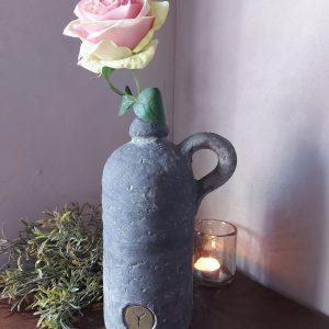 Fles met oor betonlook – Industrial Vintage – Brynxz