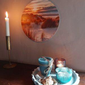 Muurcirkel – Strand zonsondergang – Ø20 cm